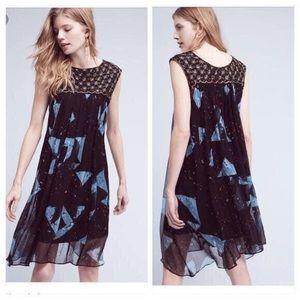 Anthropologie Moulinette Souers Lydia silk dress